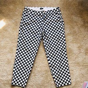 J.Crew Polka Dot Cropped City Fit Chino Pants 8
